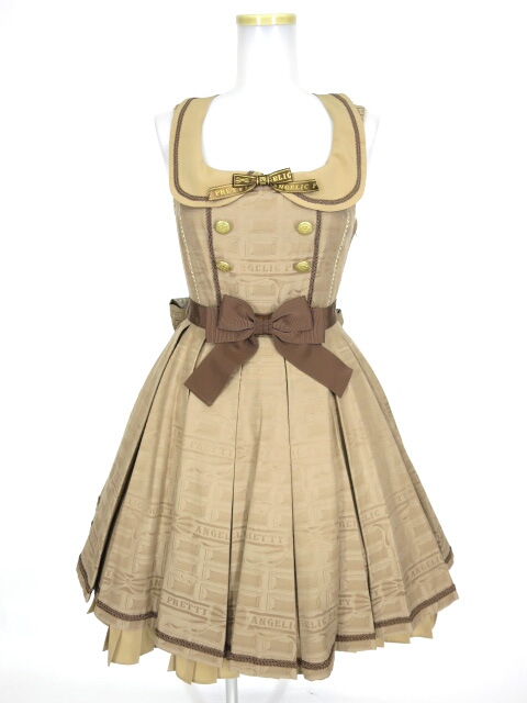 Angelic Pretty Melty Ribbon Chocolate襟付ジャンパースカート