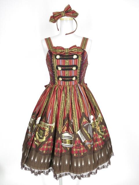 Angelic Pretty カルテットショコラSpecialジャンパースカートSet(JSK+カチューシャ)