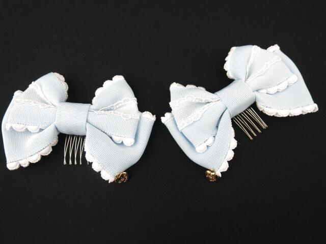 Angelic Pretty ロゴハートチャームリボンコーム