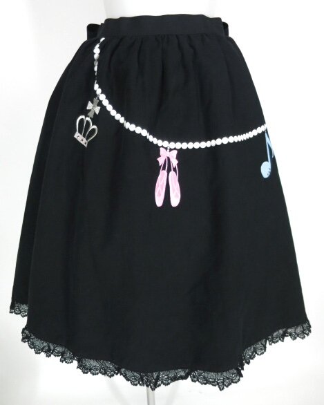 Shirley Temple チャーム刺繍入りスカート