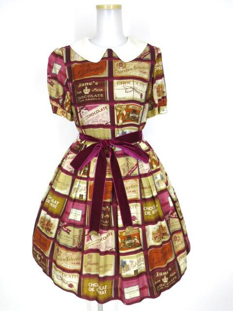 Jane Marple ブリティッシュチョコレートバーのワンピース