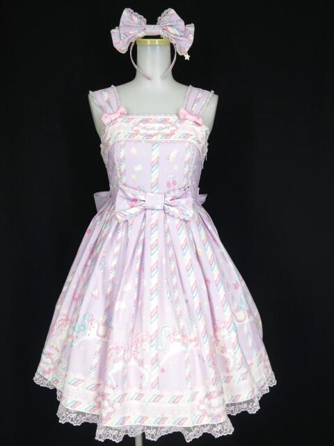 Angelic Pretty Sugary Carnival ジャンパースカート&カチューシャ