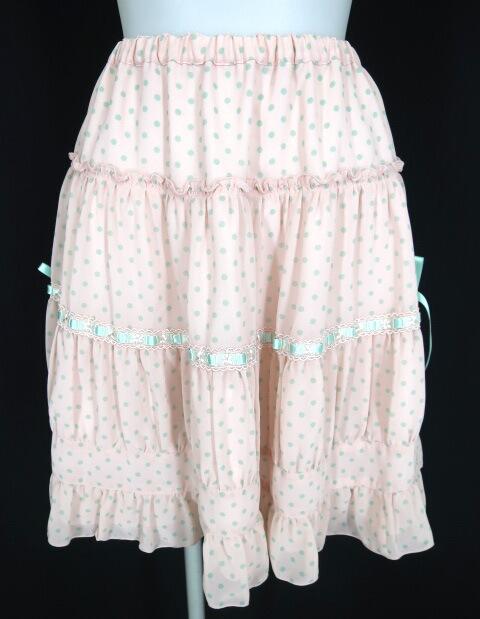 Emily Temple cute ドット柄シフォンスカート