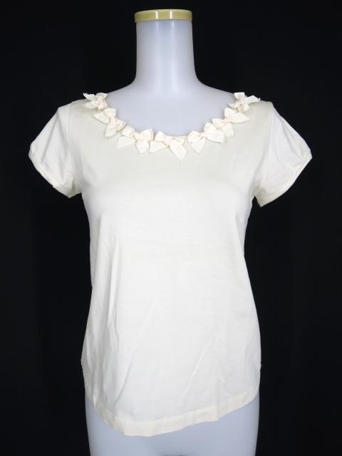 Jane Marple 首リボン付きパフスリーブTシャツ