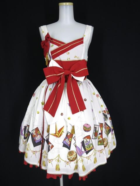 metamorphose こい恋花かるたタックジャンパースカート