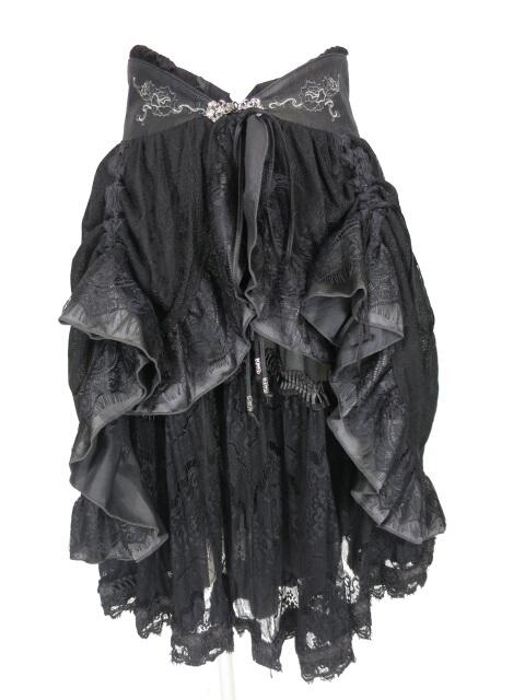 Ozz Croce レースオーバー付きスカート