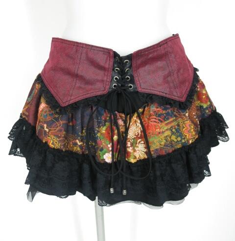 Qutie Frash 和柄フリルキュロットスカート