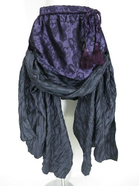 Qutie Frash ドラゴンサテンサイドロングスカート