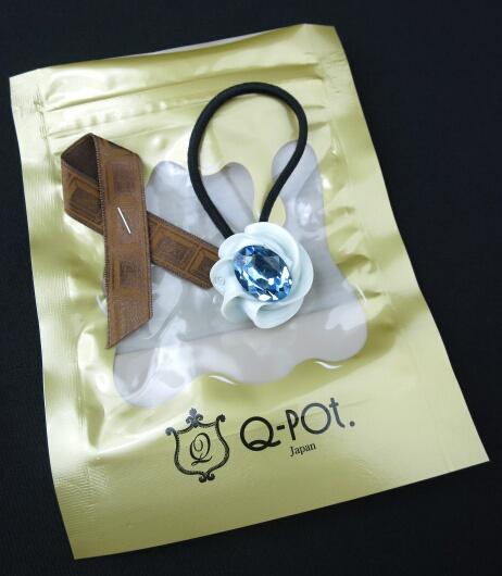 Q-pot. クリスタルホイップヘアゴム