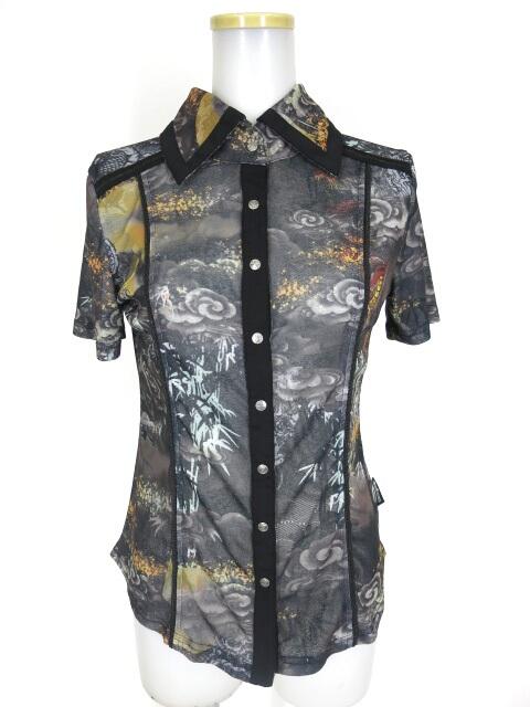 Ozz Croce 和柄半袖シャツ