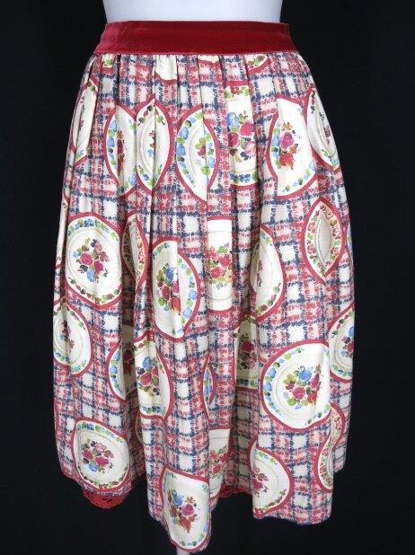 Jane Marple ロシアンプレート柄スカート