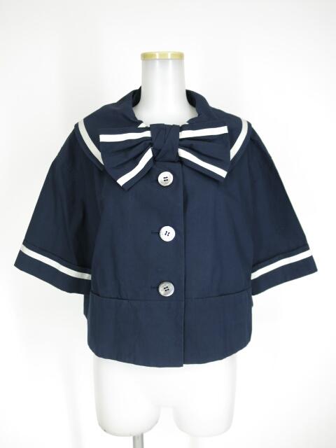 Jane Marple マリンカラーケープジャケット