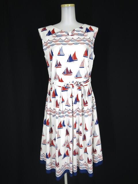 Jane Marple Dans le Salon ヨットハーバーのヴィンテージドレス
