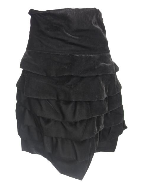 Jane Marple Dans le Salon ベルベットティアードフリルスカート