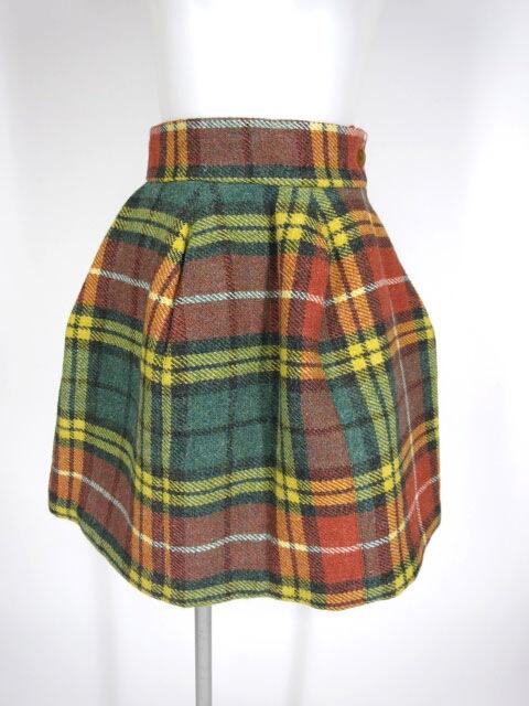 Vivienne Westwood ハリスツイード チェック柄クリニスキュールスカート