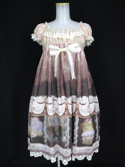 ALICE and the PIRATES Swan lake~泡沫の涙~柄ミニ袖ジャンパースカート