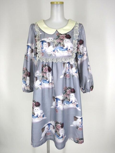 White Cat 袖付ワンピース