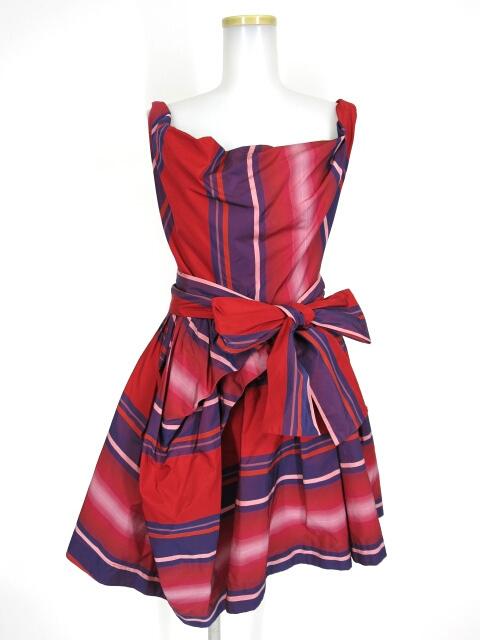 ANGLOMANIA レジメンストライプドレス