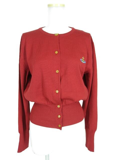 Vivienne Westwood RED LABEL オーブ刺繍ニットカーディガン