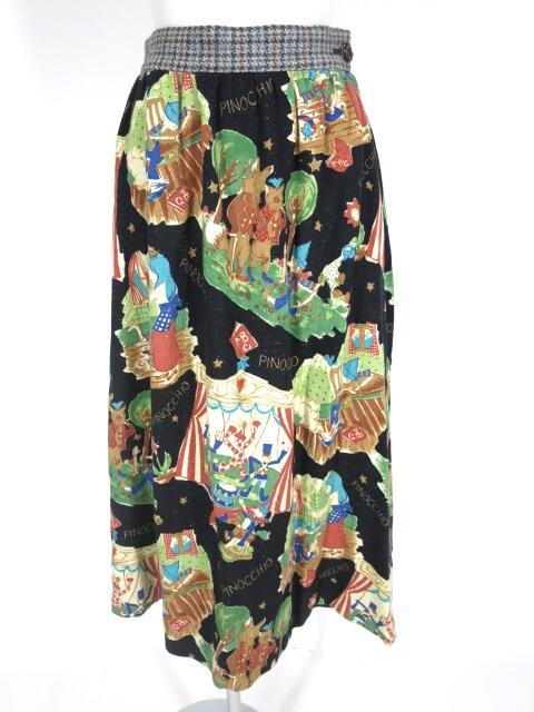 Jane Marple ピノキオ柄ロングスカート