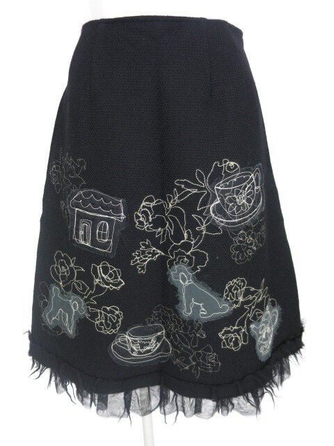 Jane Marple Dans Le Salon 刺繍入りスカート