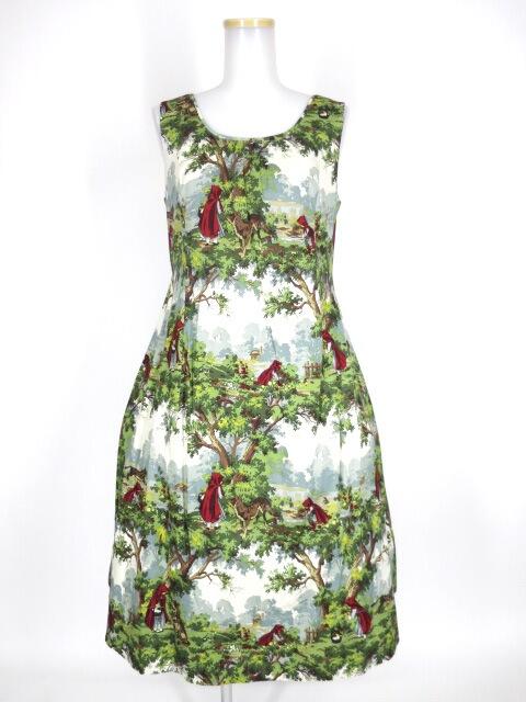 Jane Marple To the forestのパネルドレス