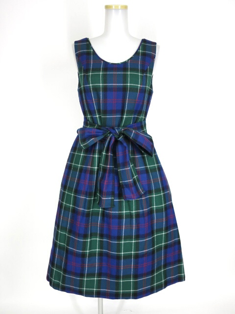 Jane Marple ウールタータンのドレス