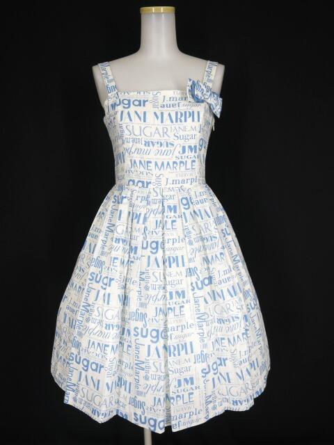 Jane Marple シュガーロゴのサンドレス