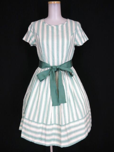 Jane Marple ピコットストライプのミニドレス
