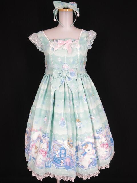 Angelic Pretty Lovely Snow Fantasy SpecialジャンパースカートSet(JSK+KC)
