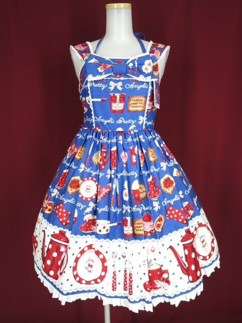 Angelic Pretty French Cafe胸リボンジャンパースカート