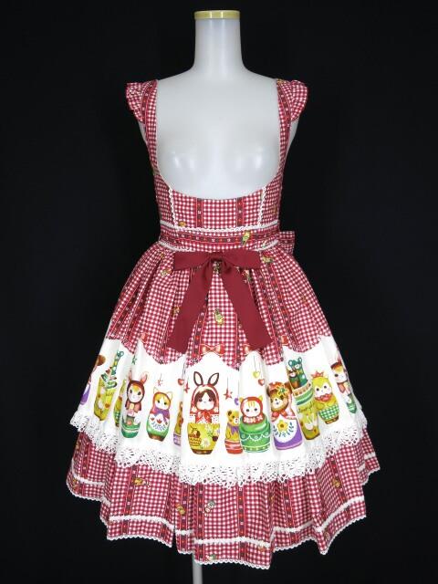 Metamorphose Nostalgic Matryoshka Doll エプロンジャンパースカート