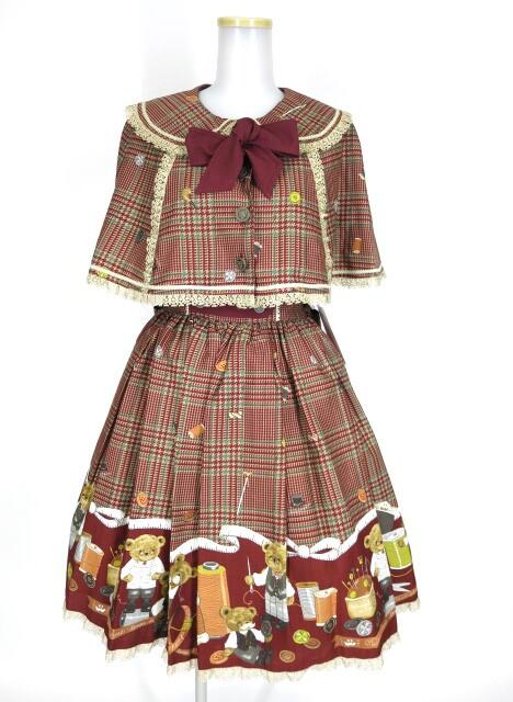 Metamorphose tailor's bear リボンケープ&サスペンダー付きスカート セット