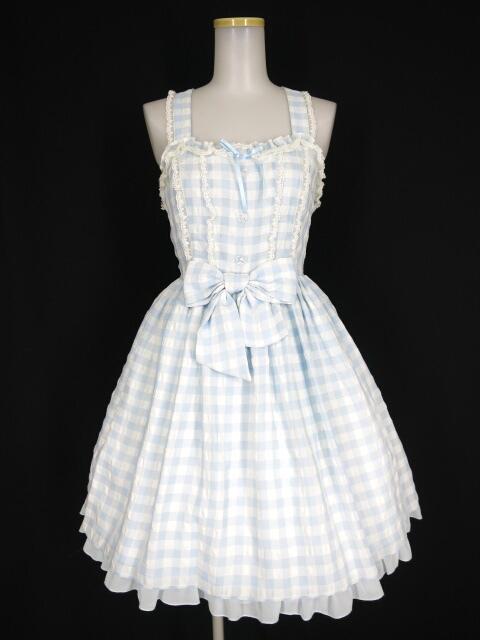 Angelic Pretty Sugaryギンガムジャンパースカート