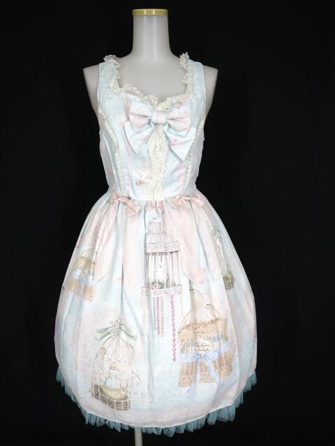 BABY, THE STARS SHINE BRIGHT Be My Valentine~Junoの祝福と鳥たちのAria~柄リボンジャンパースカート