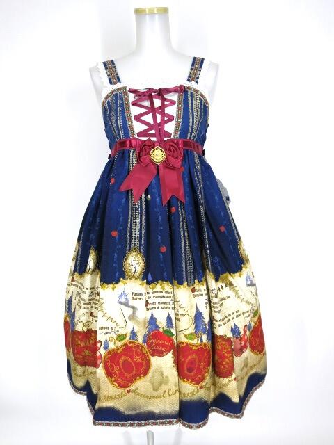 ALICE and the PIRATES つぎはぎ林檎の白雪姫柄ジャンパースカートI型