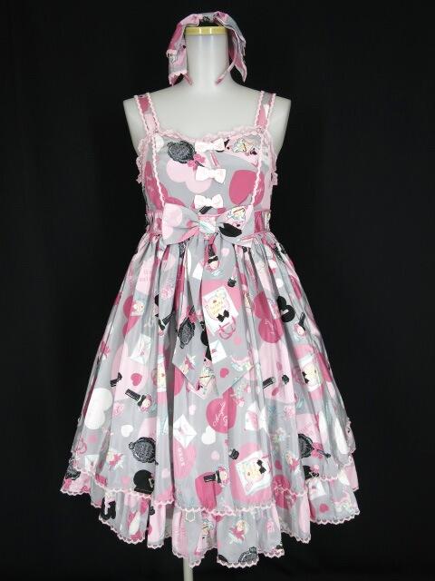 Angelic Pretty Lovely Shoppingジャンパースカート&カチューシャ セット