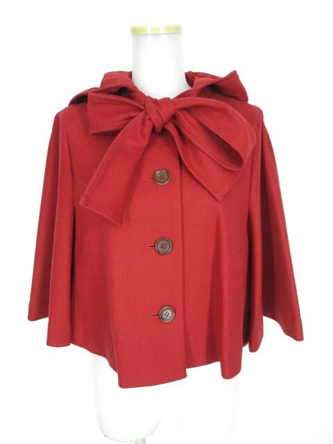 Jane Marple シャペロンルージュのフードケープジャケット