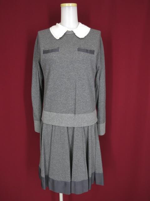 Jane Marple つけ襟付きトロンプルイユワンピース