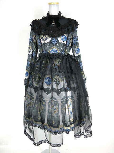 Angelic Pretty Celestialぺプラム付ワンピース