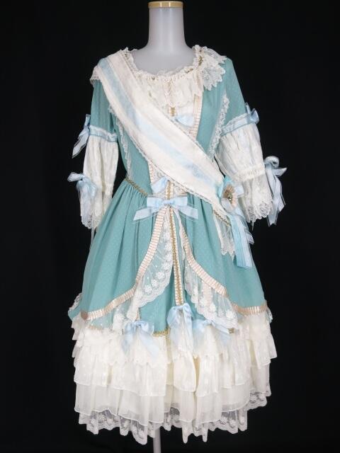 BABY,THE STARS SHINE BRIGHT ×... La robe vert clair / La Robe blue royal ドレス