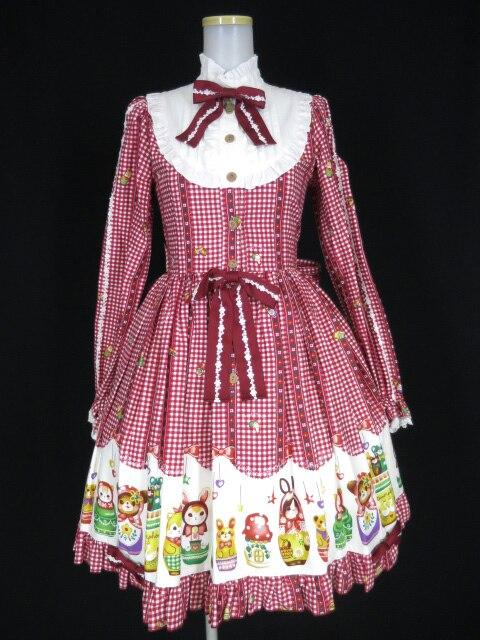 Metamorphose Nostalgic Matryoshka Doll 長袖ワンピース