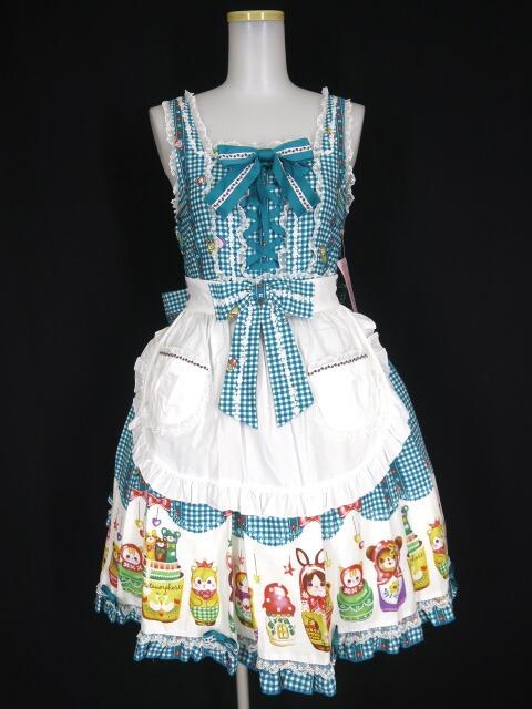 Metamorphose Nostalgic Matryoshka Doll エプロン付ジャンパースカート
