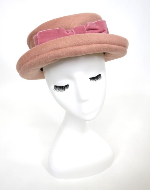 Jane Marple 別珍リボン付きハット