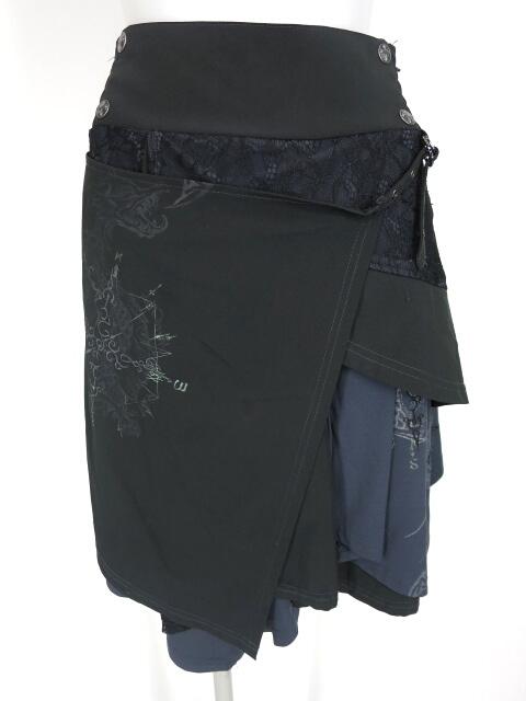 Ozz Croce フラップデザインアシンメトリースカート