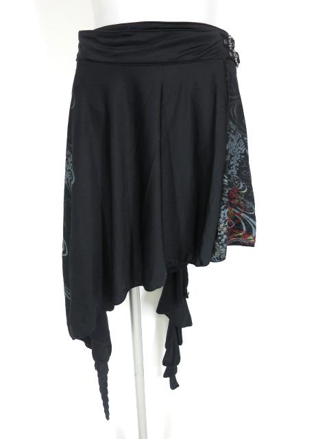OZZ ONESTE 和花刺繍入り巻きスカート