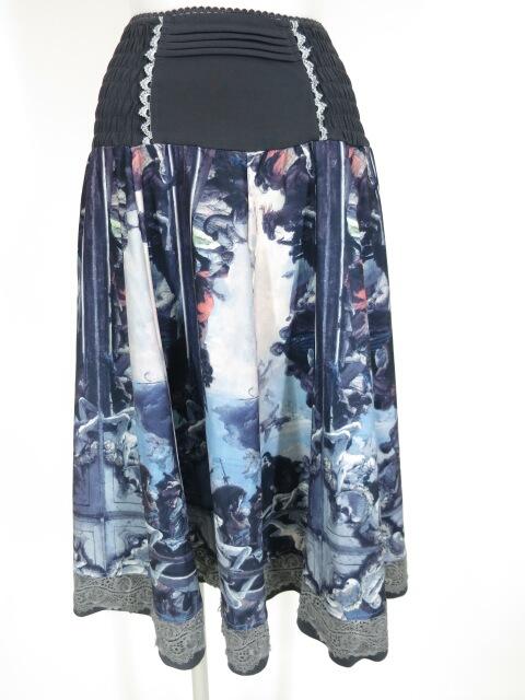 OZZ ANGELO 絵画柄2wayスカート