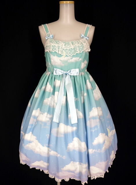 Angelic Pretty Misty Sky Brilliant ColorジャンパースカートSet