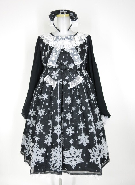 Angelic Pretty Jewelry Snow special ワンピース set(OP+カチューシャ)