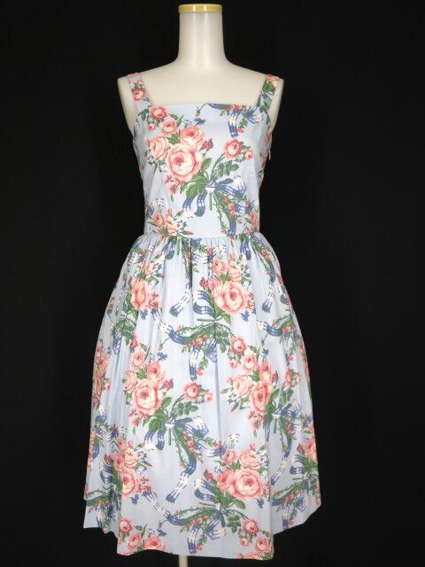 Jane Marple ローズブーケのストラップドレス